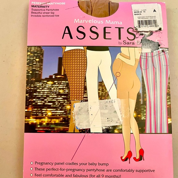 Assets By Sara Blakely Accessories Marvelous Mama Assets Maternity Support Hose S4 Poshmark